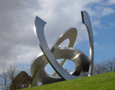 Inge King sculpture Rings of Saturn Heide Museum of Modern Art Bulleen, Melbrourne, Australia