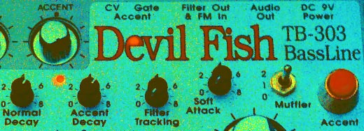 Devil Fish front panel detail - false colour