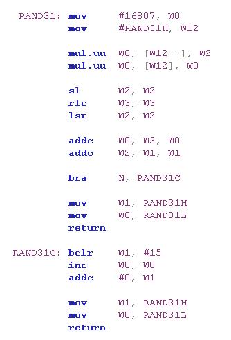 Park-Miller-Carta Pseudo-Random Number Generators