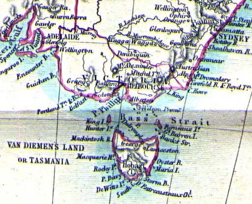 south east australia in 1860
