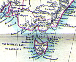 1860 map of south-east Australia