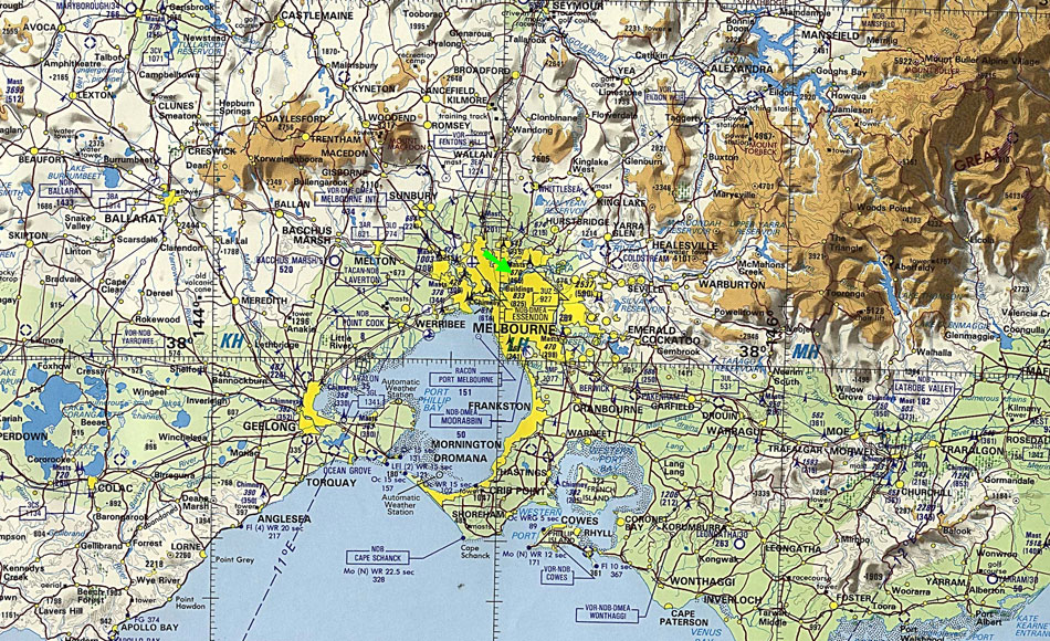 Map Of Australia And Surrounding Areas.Maps And Space Photographs Of Australia And The Melbourne Area