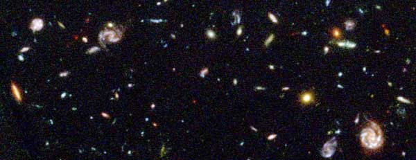 Galaxies 5 billion light years and more away