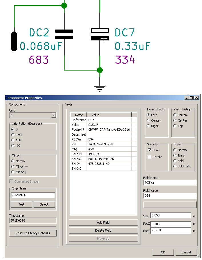 Data structures for KiCad - expecially for generating BOMs