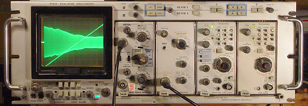 Tektronix R7844 dual beam rack-mount oscilloscope