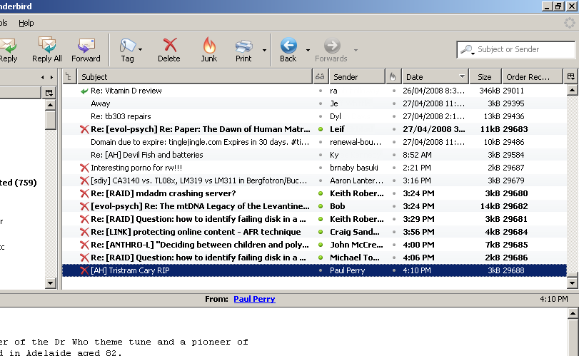 Tagged Messages: Tips And Tricks For Mozilla Thunderbird